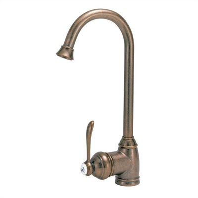 Single Handle Single Hole Kitchen Faucet with Curved Spout