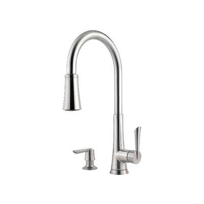 Mystique One Handle Widespread Pull-Out Kitchen Faucet