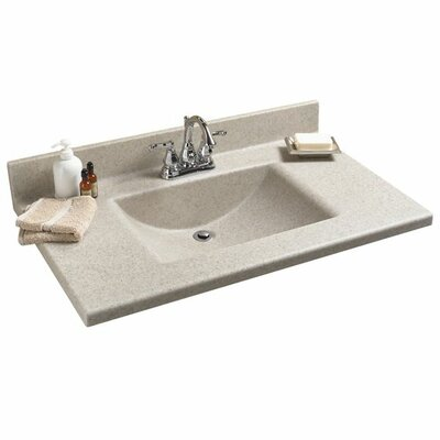 "American Standard Antiquity 37"" Silkstone Rectangular Bowl Vanity Top"