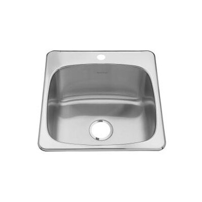 "American Standard Single Hole Stainless Steel Drop-In 20.13"" x 20.56"" Single Bowl Utility Sink"