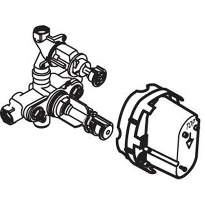 Rough Thermostatic Valve Body (A4224NU)