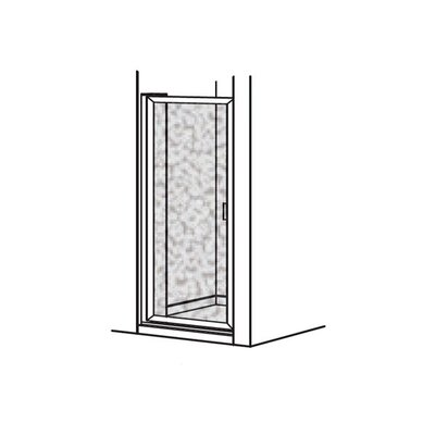 American Standard Prestige Framed Pivot Shower Door with Hammered Glass