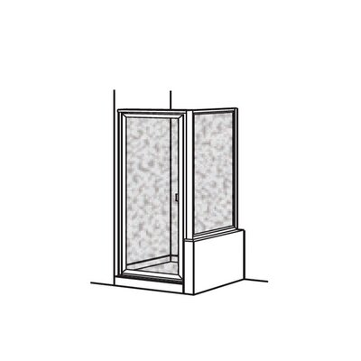 American Standard Prestige Framed Hinged Shower Door with 90% Return Panel