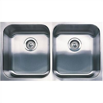 "Blanco 31.125"" x 18"" Spex Equal Double Bowl Undermount Kitchen SInk"