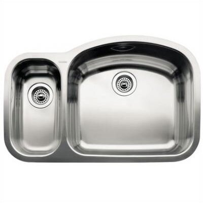 "Blanco Wave 32.09"" x 20.88"" x 8"" Reverse Bowl Undermount Kitchen Sink"