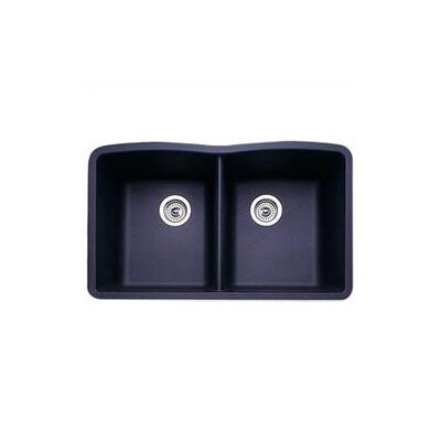 "Blanco Diamond 32"" x 19.25"" Equal Double Bowl Undermount Kitchen Sink"