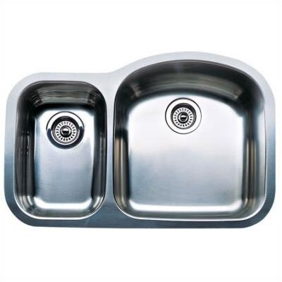 "Blanco Wave 31.5"" x 20.88"" x 10"" Plus Reverse Bowl Undermount Kitchen Sink"