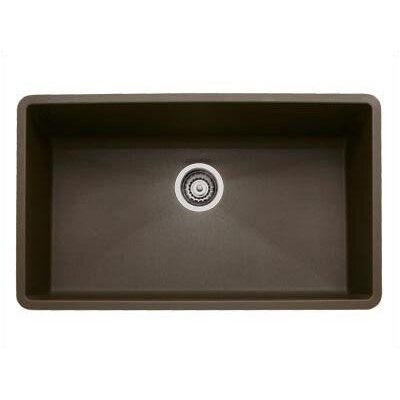 Blanco Precis Super Single Bowl Sink in Metallic Gray