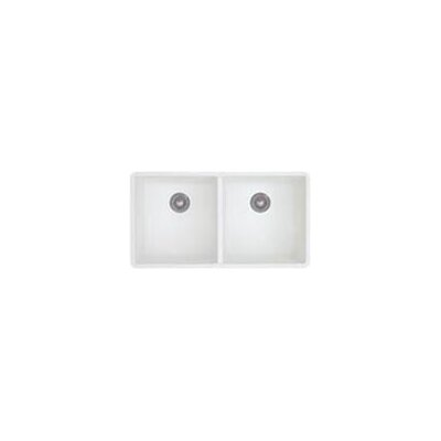 Blanco Precis Double Bowl Undermount Kitchen Sink in White