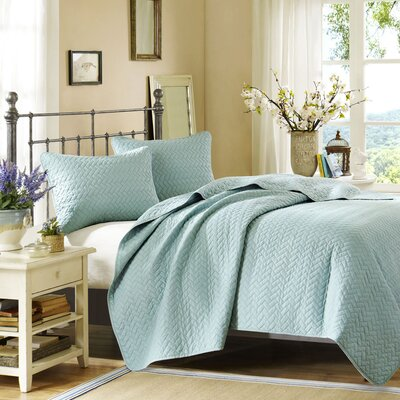 Hampton Hill Garden View 3 Piece Coverlet Set
