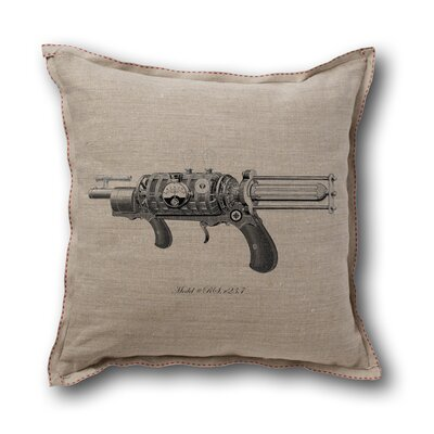 Museum of Robots Retro-Futuristic Artifacts Model R.S. Raygun Pillow Cover