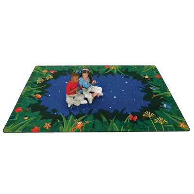 Carpets for Kids Printed Peaceful Tropical Night Kids Rug