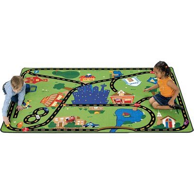 Carpets for Kids Theme Cruisin' Around the Town Kids Rug