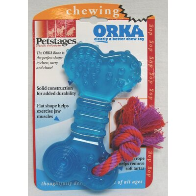 PetStages Orka Bone Chew Dog Toy in Multi Colored