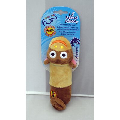 PetStages Lil Squeak Monkey Toy in Brown