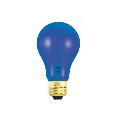 Bulbrite Industries 25W Transparent A19 Incandescent Bulb in Blue