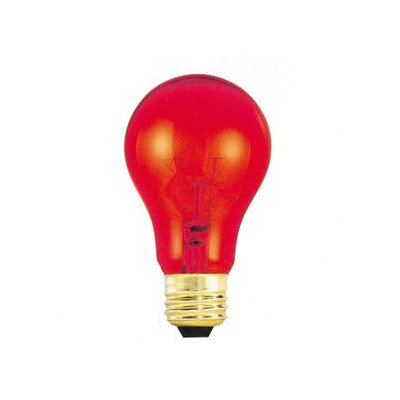 Bulbrite Industries 25W Transparent A19 Bulb in Red