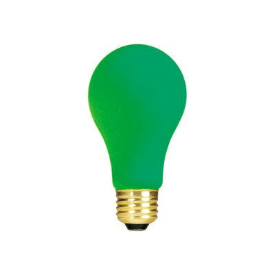Bulbrite Industries 40W Ceramic A19 Incandescent Bulb in Green