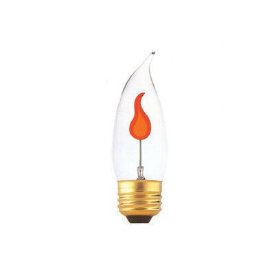 Bulbrite Industries 3W Flame Tip CA10 Chandelier Bulb in Flicker