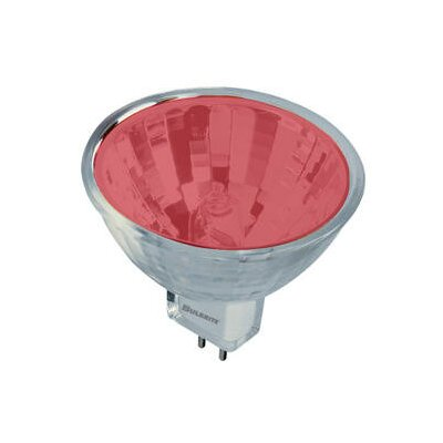 Bulbrite Industries 20W Bi-Pin MR11 Halogen Bulb in Red