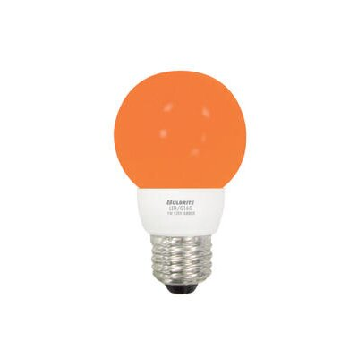 Bulbrite Industries 1W LED Decorative G16 Globe Bulb in Amber