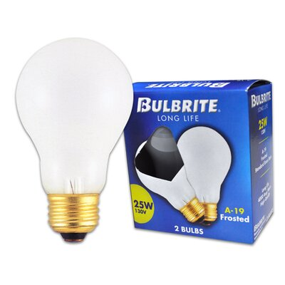 Bulbrite Industries A19 Long life Standard Incandescent Bulb