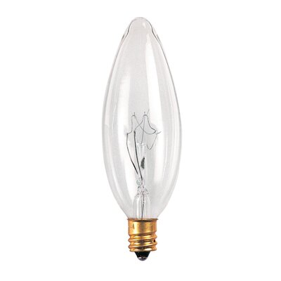 Bulbrite Industries 40W Incandescent Torpedo Chandelier Bulb with E12 Base in Clear