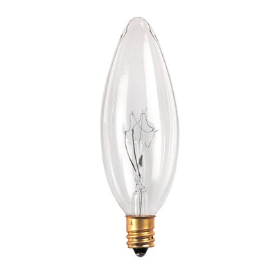 Bulbrite Industries 60W Incandescent Torpedo Chandelier Bulb in Clear