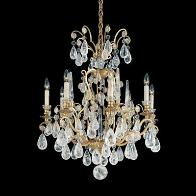 Schonbek Versailles Rock Crystal 8 Light Chandelier