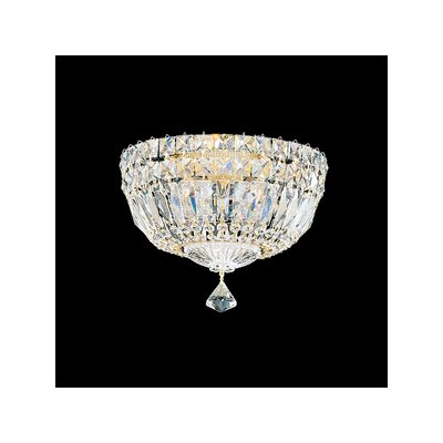 Schonbek Petit Crystal Deluxe 4 Light Flush Mount