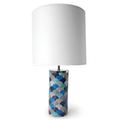 Jonathan Adler Carnaby 1 Light Scales Small Table Lamp