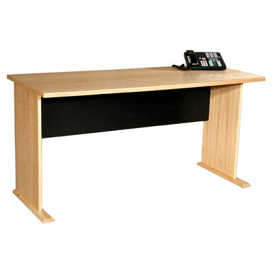 "Rush Furniture Modular Real Oak Wood Veneer 48"" W Panel Office Desk"