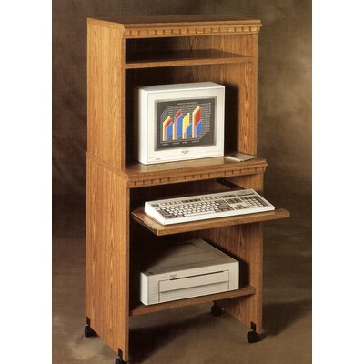 "Rush Furniture Americus 25"" W Computer Trolley in Oak"