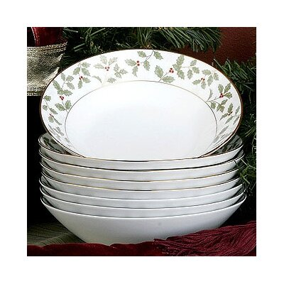 Noritake Holly and Berry Gold 12 oz. Soup Bowl (Set of 8)