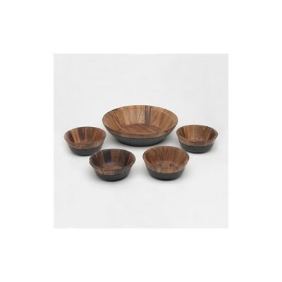Noritake Kona Wood 5 Piece Salad Set