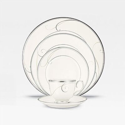Platinum Wave 20 Piece Dinnerware Set