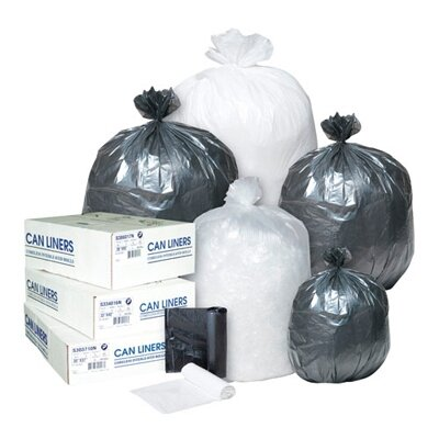 Inteplast Group 10 Gallon Low-Density Can Liner in Clear