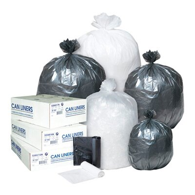 Inteplast Group 10 Gallon High Density Can Liner, 5 Micron in Clear