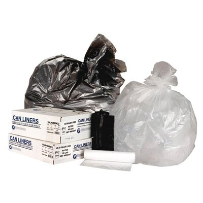 Inteplast Group 33 Gallon High Density Can Liner, 13 Micron Equivalent in Clear