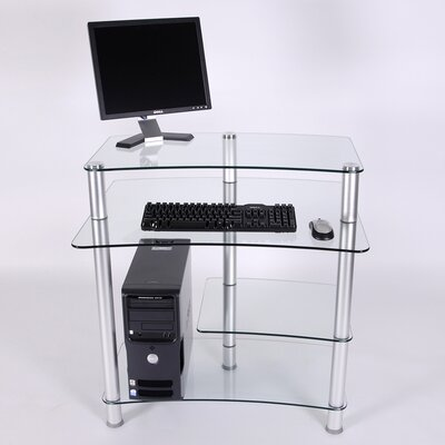 RTA Home And Office 32&quot; W Computer Desk with Keyboard Tray
