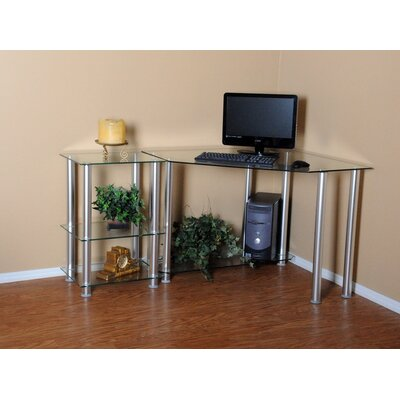 rta home and office corner computer desk with 20 modular extension