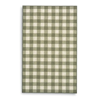 French Check Green Check Rug