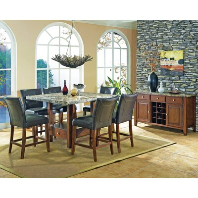 Steve Silver Furniture Montibello 7 Piece Counter Height Dining Set