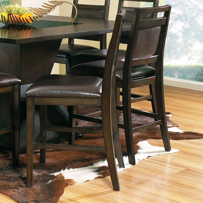 Steve Silver Furniture Malbec Counter Height Dining Chair in Multi-Step Rich Espresso