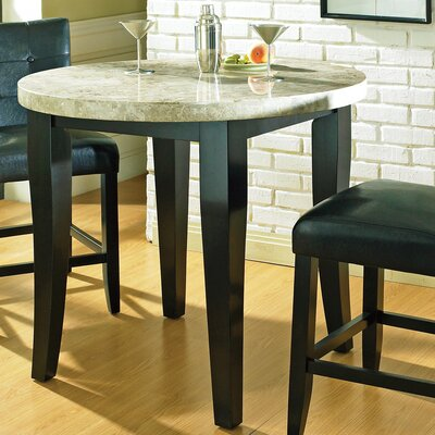 Steve Silver Furniture Monarch Pub Table in Multi-Step Black