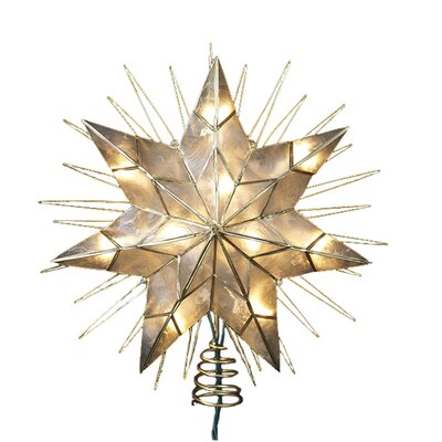 Capiz Star Lighted Tree Topper