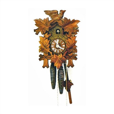 "Schneider 16.5"" Traditional Cuckoo Clock with Light Antique Stain"