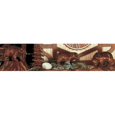 "Schneider 18"" Chalet Cukoo Clock with Moving Bears, Woodchucks and Water Wheel"