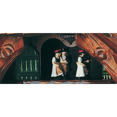 "Schneider 19"" Black Forest Chalet Cuckoo Clock with Four Beer Drinkers"