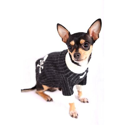 Skull Dog Turtleneck in Grey